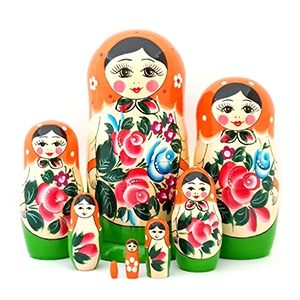 Traditional Nesting Dolls gouache