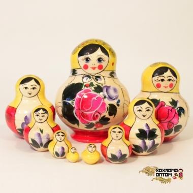 """Матрешка традиционная """"Фонарик"""" 10 кукольная"""