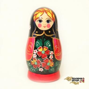 "Matryoshka ""Forget-me-not Black shawl"" (5 dolls)"