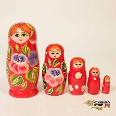 """Матрешка """"Анютины глазки"""" 5 кукольная"""