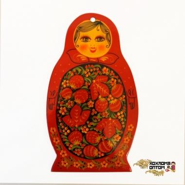 """Pastry board """"Khokhloma Matryoshka"""""""