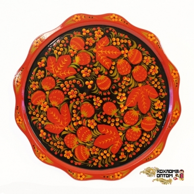 "Plate ""Khokhloma Pancake"""
