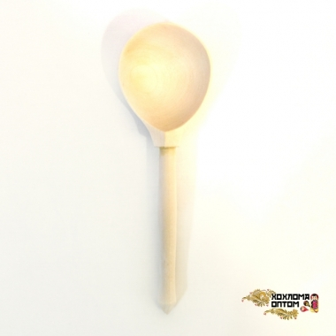 Wooden tablespoon without painting (composite spoon)