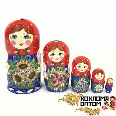 """Матрешка """"Подсолнухи"""" 5 кукольная"""