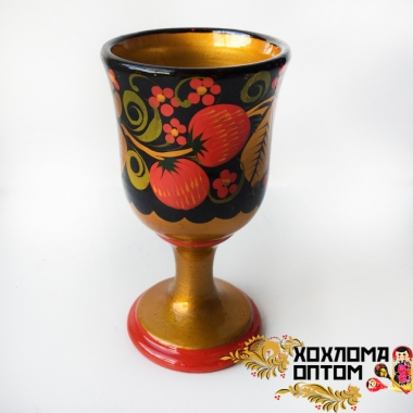 "Small glass ""Khokhloma"""