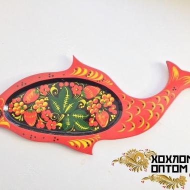 Осетрина с хохломской росписью