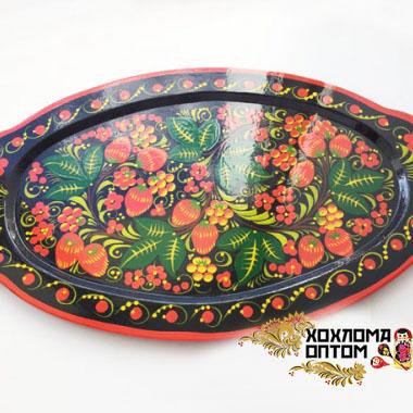 "Tray ""Khokhloma Kerzhenets"""