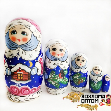 "Matryoshka ""Snow Maiden"" (5 dolls)"