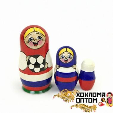 """Матрешка """"Футбол"""" 3 кукольная"""