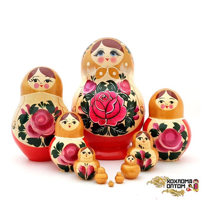"Matryoshka ""Semenov gouache"" (10 dolls Torch)"