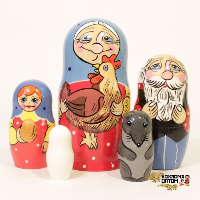 """Matryoshka """"Fairy-tales"""" (5 dolls)"""