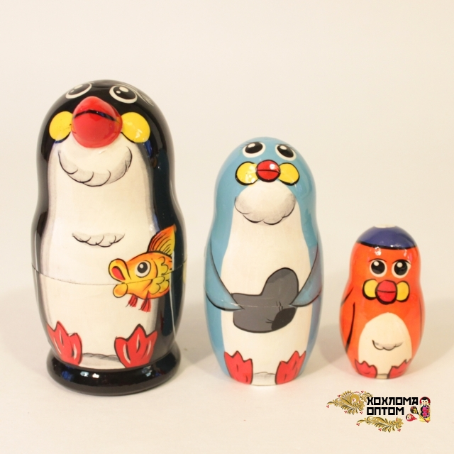 """Матрешка """"Пингвин"""" 3 кукольная"""