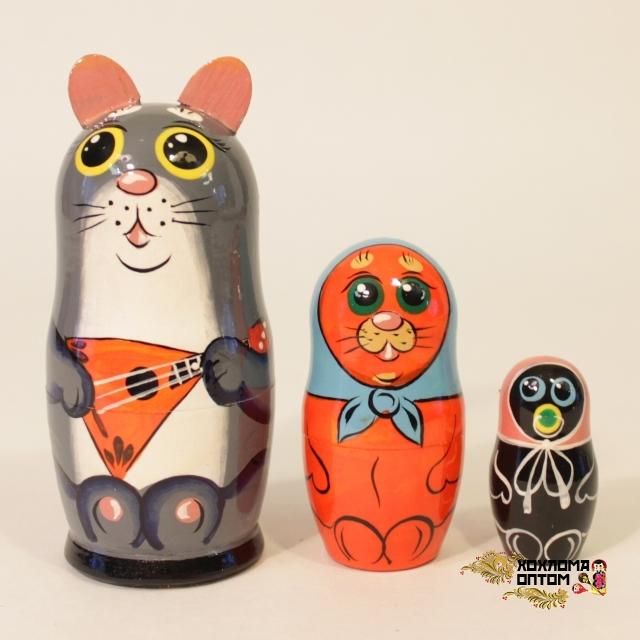 """Matryoshka """"Cat"""" (3 dolls)"""