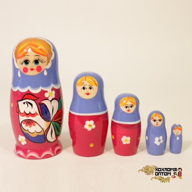 """Matryoshka """"Cock"""" (5 dolls)"""