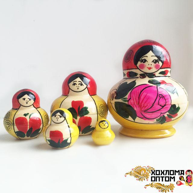 "Matryoshka traditional ""Torch"" (5 dolls)"
