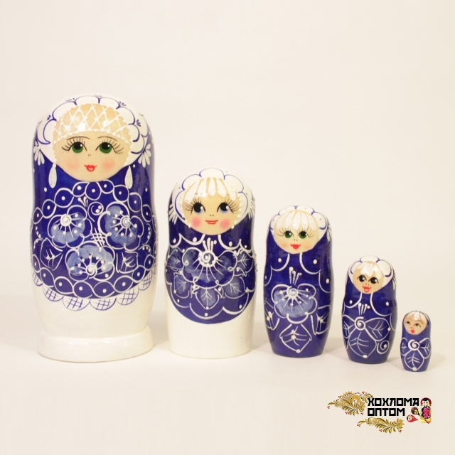 """Matryoshka """"Pearl"""" (5 dolls)"""