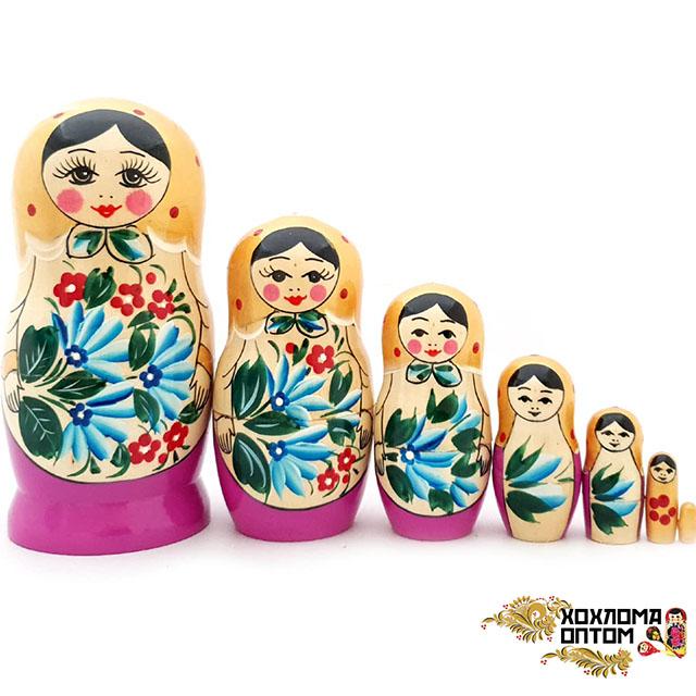 "Matryoshka ""Semenov gouache"" 7 dolls"