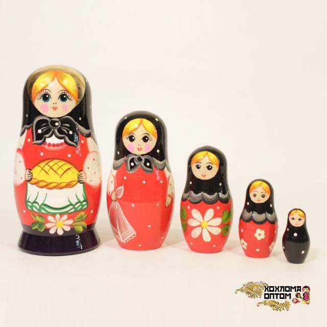 """Matryoshka """"Round loaf"""" (5 dolls)"""