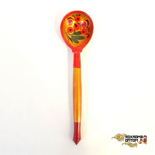 """Wooden teaspoon  """"Khokhloma"""""""