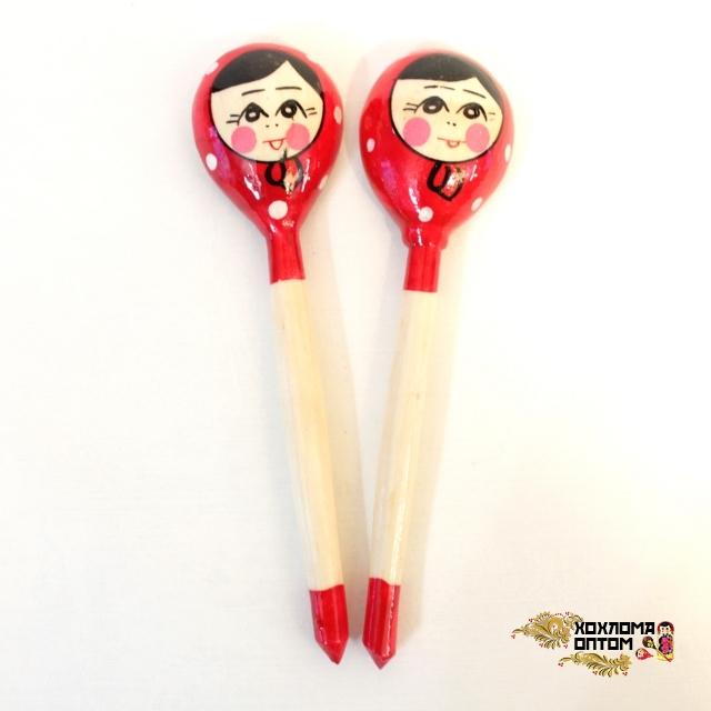 """Wooden teaspoon  """"Russian doll"""""""