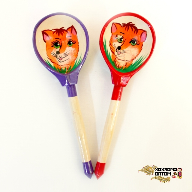 """Wooden tablespoon  """"Foxie"""""""