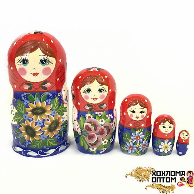 """Matryoshka """"Sunflowers"""" (5 dolls)"""