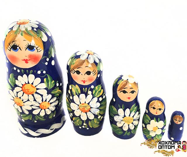 """Matryoshka """"Meadow"""" (5 dolls)"""