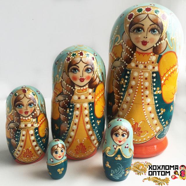 """Матрешка """"Сюжет"""" 5 кукольная"""