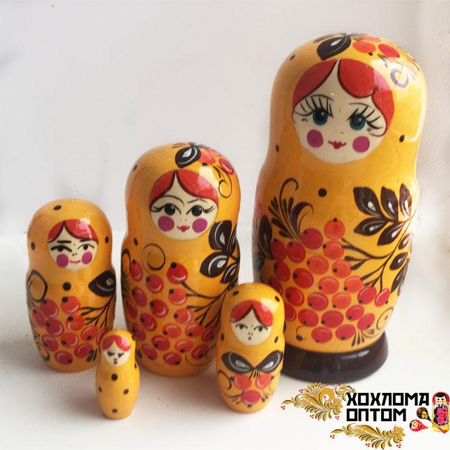 "Matryoshka ""Rowan tree"" (5 dolls)"