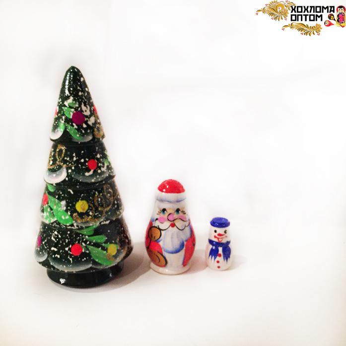 "Matryoshka ""New Year tree"" (3 dolls)"