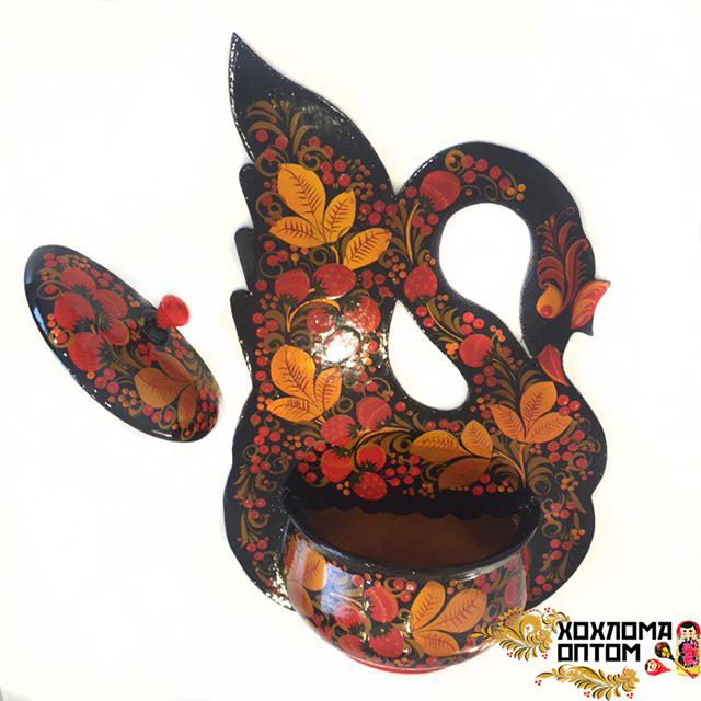 "Flowerpot ""Khokhloma Swan"""
