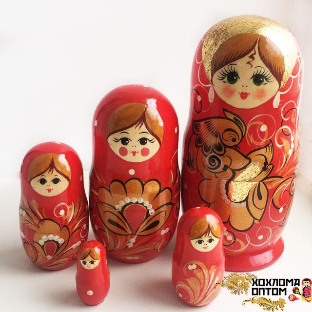 "Matryoshka ""Fire Bird"" (5 dolls)"