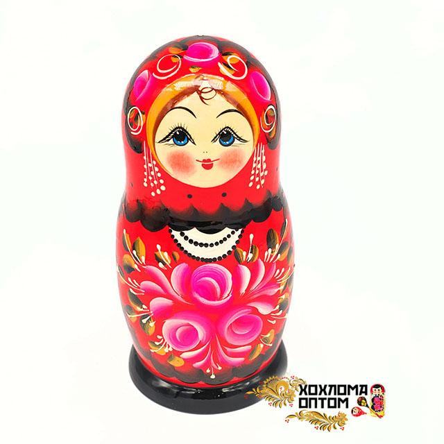 """Матрешка """"Букет роз"""" 5 кукольная большая"""