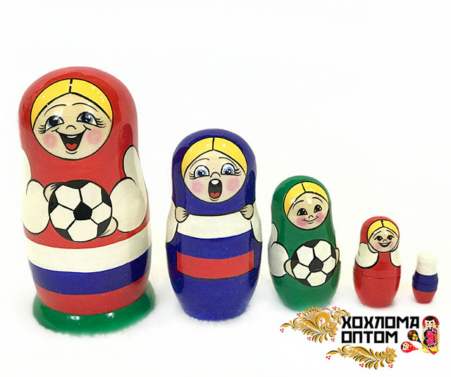 "Matryoshka ""Football"" (5 dolls)"