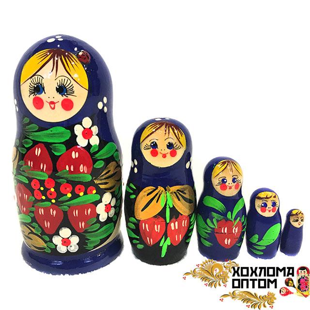 """Матрешка """"Клубничка средняя"""" 5 кукольная"""