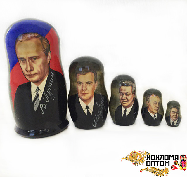 """Matryoshka """"Putin"""" (5 dolls)"""