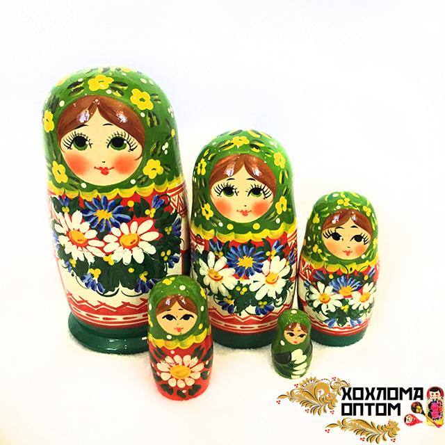 "Matryoshka ""Camomile meadow"" (5 dolls)"