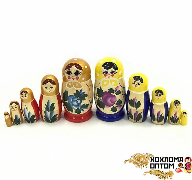 """Matryoshka """"Semenov gouache"""" (5 dolls small)"""