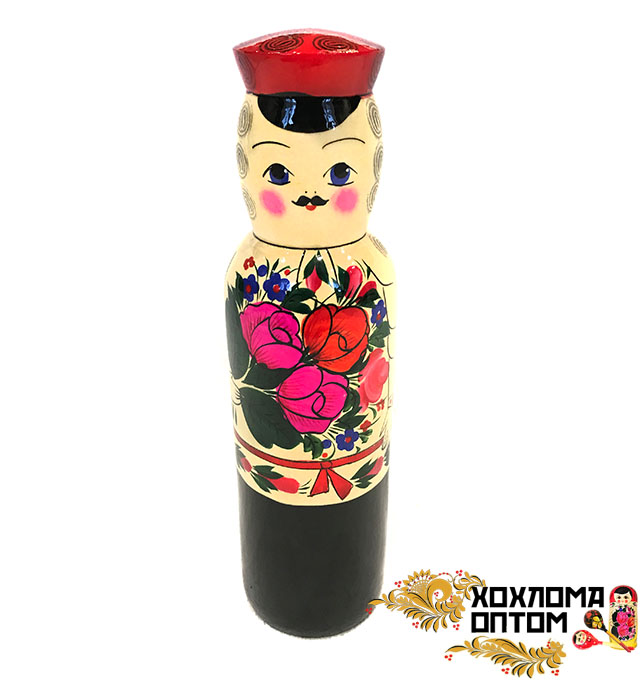 """Матрешка штоф """"Ванька"""" традиционная роспись под 0,5"""