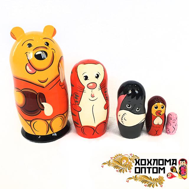 """Matryoshka """"Winnie-the-Pooh"""" (5 dolls)"""