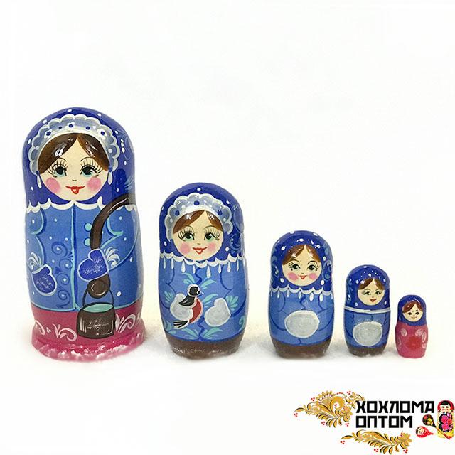"""Matryoshka """"Winter"""" (5 dolls)"""