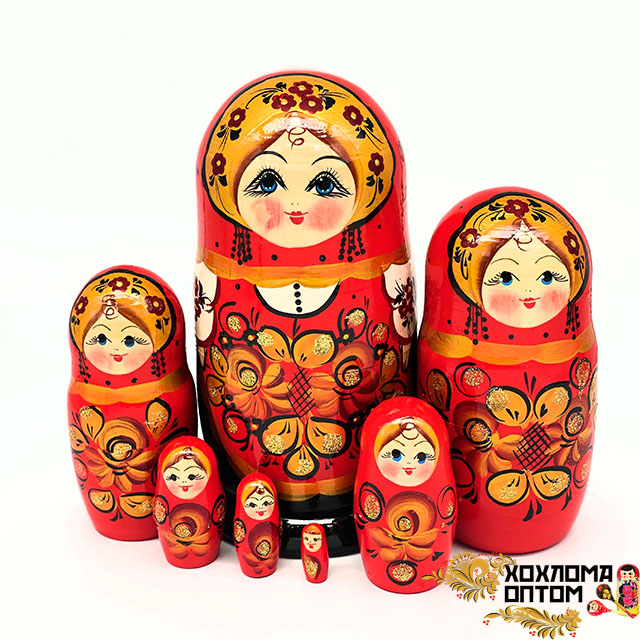 """Матрешка """"Златолистник"""" 7 кукольная"""