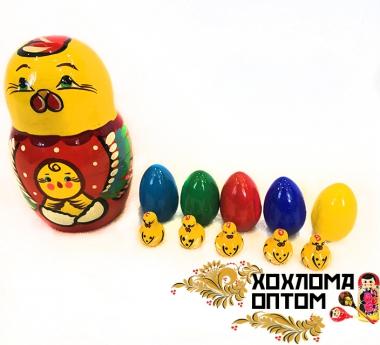 "Матрешка ""Курочка и цыплята"" 11 кукол"