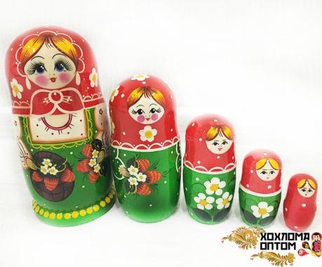 """Матрешка """"Лукошко"""" 5 кукольная"""