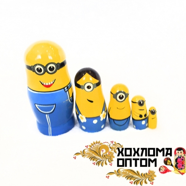"Matryoshka ""Minions small"" (5 dolls)"