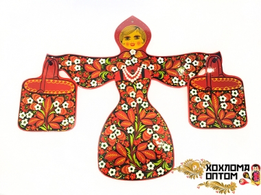 "Cutting board set  ""Khokhloma Russian Beauty"""