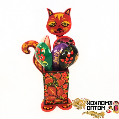 "Spoon stand ""Khokhloma Cat"""