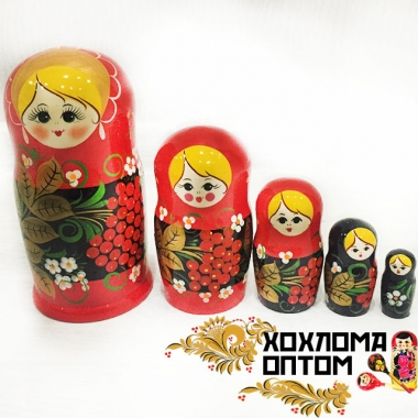 "Matryoshka ""Rowan tree"" (5 dolls)"
