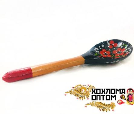 """Ложка салатная деревянная """"Чернушка"""""""