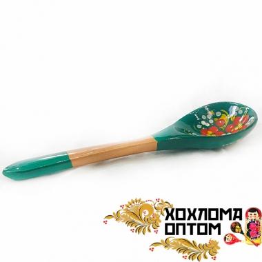 """Ложка салатная деревянная """"Зеленушка"""""""